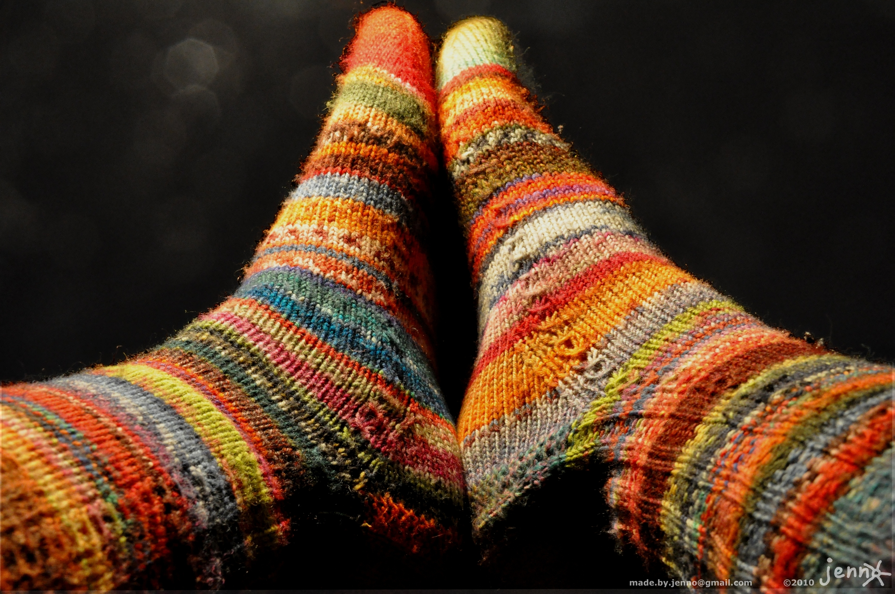 Knitted socks in my favorite style